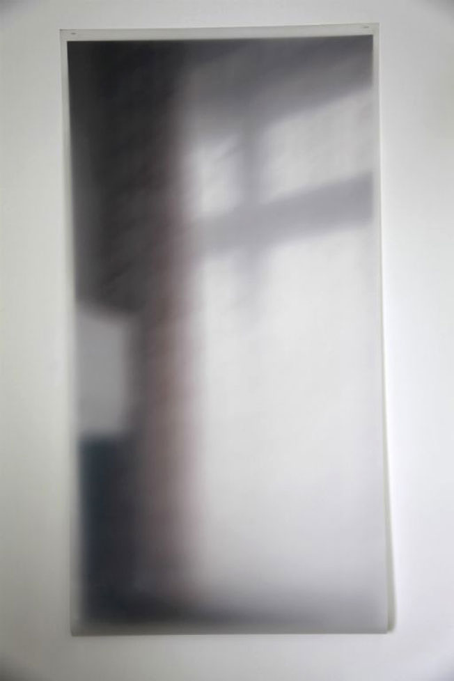 Net curtain 2013, photo on semi-opaque film, tracing paper, 175 x 91cm