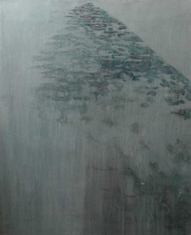 Pavement shadows, blue 1 2014, oil on canvas, 168 x 137 cm