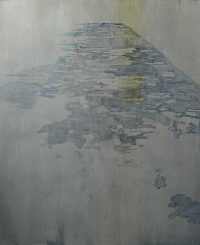 Pavement shadows, blue 2 2014, oil on canvas, 168 x 137 cm